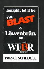 Baltimore Blast--1982-83 Pocket Schedule--WFBR/Lowenbrau--MISL