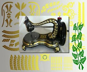 Restoration Decals for antique Jones Serpentine Swan Neck Sewing Machine