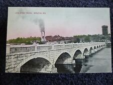 Early 1900's The John Street Bridge in Appleton, Wi Wisconsin PC