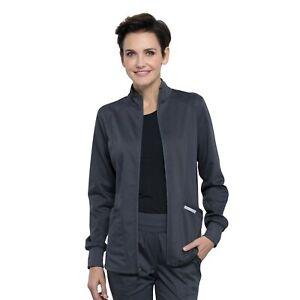 Cherokee Scrub REVOLUTION Women's New Fashion Snap Front Warm Up Jacket WW301