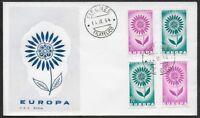 ITALIA Repubblica 1964 Europa CEPT FDC ND PERF+IMPERF