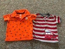 Carter's Car & Fire Truck Boys Shirts 12M
