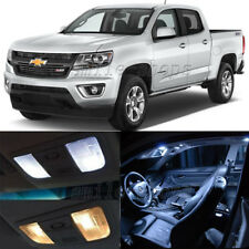 13pcs White LED Interior Bubls + License Plate Fit For 15-17 Chevrolet Colorado