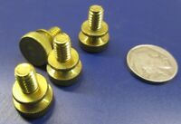 "Flared Shoulder Brass Thumb Screw, 9/16"" Dia,  1/4""-20 x 3/8"" Length, 10 Pcs"
