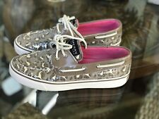 Sperry Top Sider! Brown Sequin Camouflage Boat Shoes Women's Size 6