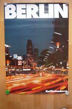 Altes Original Plakat Berlin Werbeplakat Kurfürstendamm Nacht 84 x 60 cm 1979
