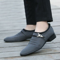 Men's Dress Business Shoes Slip On Casual Pointed Toe Canvas Formal Office Work