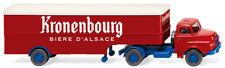 """Wiking 051322 Semirimorchio Autoarticolato (Saviem) """" Kronenbourg """" 1:87 (H0)"""