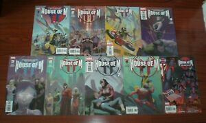 HOUSE OF M #1-8 Complete SET + Day After One-Shot NM FULL RUN LOT X-Men Avengers