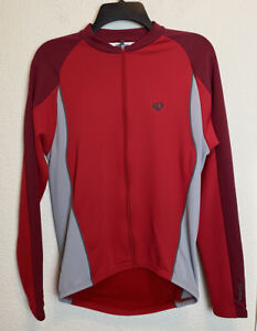 Pearl Izumi Select Long Sleeve Cycling Full Zip Up Size MEDIUM UltraSensor Red
