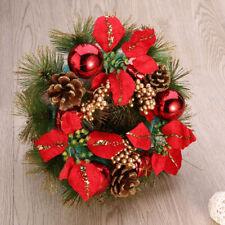 Couronne Décoration de Noël Couronne D'automne Guirlande de Noël Artificielles