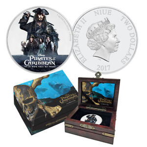 2017 Pirates of the Carribean 1 oz Silver Coin - Dead Men Tell No Tales