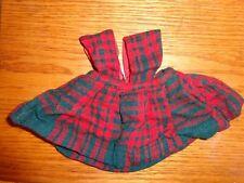 Vintage Terri Lee Doll Red Plaid Jumper with Tag