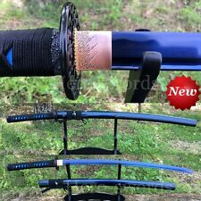BLUE COLOR 1060 HIGH CARBON STEEL BLADE JAPANESE SAMURAI SWORD SHARPENED KATANA