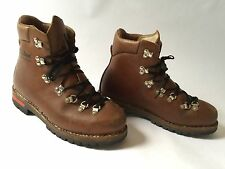 VTG LL Bean Raichle Swiss Leather Hiking Mountaineering Trail Boots Mens Size 10