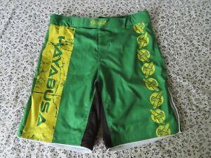 Hayabuse Fight Shorts MMA/K1/Muay Thai-Limited Edition Green Size 38