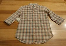 horny toad fanfair button shirt pink black white plaid size Xs