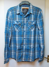 Mens SUPERDRY Plaid Check Flannel Style Shirt size XL Extra Large Men's