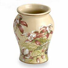 Tommy Bahama VISCAYA Tumbler Cup Ceramic Tropical Orchids Bonnie Cove Hawaiian