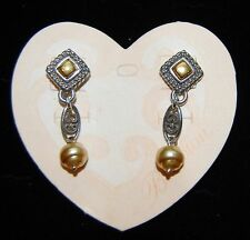 NEW with Tag  BRIGHTON post & dangle earrings NADIA PEARL  w/ FREE SHIPPING !!