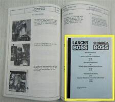 Lancer Steinbock Boss LE13 16 Betriebsanleitung  Operating Instructions Service