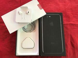 Genuine Apple iPhone 7 Plus Jet Black Box (UK model) with accessories - REF F03