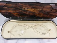 Giorgio Armani 1980's Extra Large Eyeglasses with Display Case