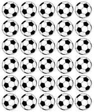 30 x Football Balls Edible Cupcake Toppers Wafer Paper Fairy Cake Topper
