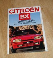 Citroen BX Brochure 1986 1.9 GTI 16V 16 TRS DTR Turbo 19 TRS Saloon & Estate
