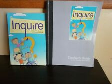 Inquire A STudent Handbook for 21st Century Learning 2 Books Student & Teachers