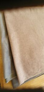 WEMYSS FIORA SAND VELVET FIBREGUARD SOFA FABRIC 110cm X138cm +120cm X 85cm