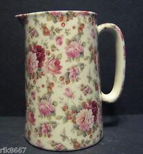 Heron Cross Pottery Strawberry Rose Chintz English 1 Pint Milk Jug