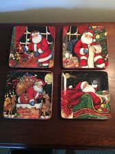 """the night before christmas plates (set of 4), 8.5"""", multicolor"""