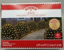 Holiday Time 200 High Density Net Lights Clear Bulbs Green Wire Christmas Lights