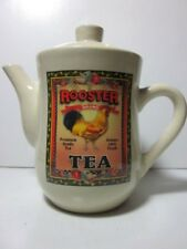 Vintage Bay Island Rooster Brand Tea Double-Sided Image Porcelain Teapot