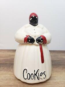 Vintage McCoy Aunt Ceramic Cookie Jar Black Americana Kitchen Decor Collectable