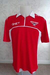 MARUSSIA F1 TEAM ISSUE ZIPPED POLO SHIRT MENS 2XL - NEW IN BAG WITH TAGS