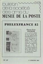 BULLETIN AMIS du MUSEE de la POSTE N° 65 1981 + CORSE + Franchises pour MONACO