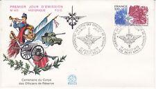 Enveloppe 1er jour FDC n°975 - 1976 : Corps des Officiers de Réserve