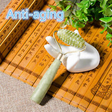 Face Body SPA Massage Roller Facial Massager Jade Stone Anti-aging Cold Therapy