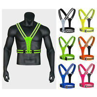 LED Reflective Vest for Accessories Night Running Walking Cycling Outdoor