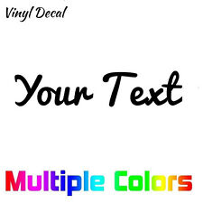 Custom Text Decal - Your Text vinyl die cut sticker Personalized Letters