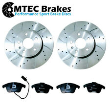 AUDI A4 B8 A5 8T FRONT DRILLED GROOVED BRAKE DISCS PADS FOR 1.8-3.2 07-17 314mm