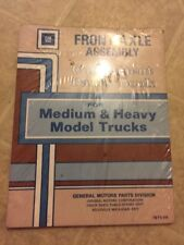 1981 GM Medium & Heavy Model Trucks Front Axle Assembly  Component Parts Book