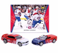 MONTREAL CANADIENS HOME & ROAD CHARGER AND CORVETTE W/TEAM ACTION CARD DIECAST