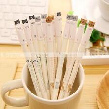 6Pcs/Set Lovely Cats Design Black Gel Ink Pens Roller Needle Pen 0.38mm