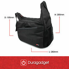 Premium Protective Satchel/Messenger Bag in Black for Nikon D300 & D3100 & D3200