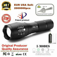 50000lm T6 LED Tactical Flashlight Torch Zoomable Zoom for 18650 5 Modes