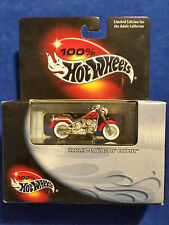 2000 Hot Wheels 100% Cool Collectibles Harley-Davidson Fatboy Red w Silver Frame