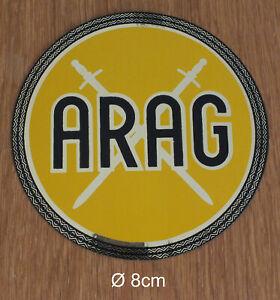 ARAG Alter Plakette Aufkleber Sticker Auto Oldtimer Original 70er Jahre RAR